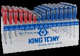 King Tony 96 részes csavarhúzókészlet polccal (+/-)