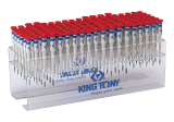King Tony 114 részes műszerész csavarhúzókészlet polccal (+/-/torx)