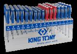 King Tony 96 részes csavarhúzókészlet polccal (+/-/torx)
