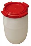 Hordó műanyag fedeles menetes 60 L / 250 - piros tető
