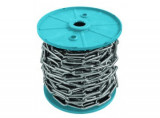 DIN5685C Hosszú szemű horganyzott lánc