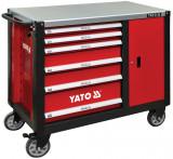 Yato YT-09002 Szerszámkocsi 6+1 fiókos (szélesített)