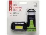 EMOS LED-es Fejlámpa+Mini Kempnglámpa COB LED-el
