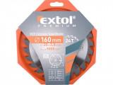 EXTOL Körfűrészlap Fához 160mm*20*2,8mm 24T