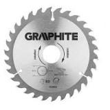 Graphite Körfűrészlap Fához 180*30mm Z60 Keményfém