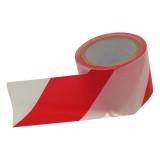 EXTOL Jelölő szalag, piros-fehér; 75mm×100m, polietilén (kordon szalag)