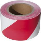 EXTOL Jelölő szalag, piros-fehér; 75mm×250m, polietilén (kordon szalag)