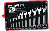 YATO 12 részes Villáskulcskészlet (6-32mm) CrV DIN3113 standard