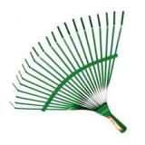 Lombseprű Fém Fix Pálcás Zöld