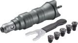 """Fortum Adapter klt. fúrógéphez, popszegecsekhez, 2,4-3,2-4,0-4,8 mm-es szegecsekhez; 1/4"""" hatszög befogás, FORTUM"""