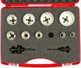 Ruko bimetál körkivágó készlet HSSE-Co8 9+2 részes