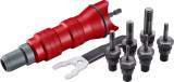 """Fortum Adapter klt. fúrógéphez, POP-NUT szegecsanyákhoz, 6 db, M3-M4-M5-M6-M8-M10; 1/4"""" hatszög befogás, FORTUM"""