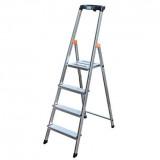 MONTO Safety egy oldalon járható lépcsőfokos állólétra, 4 fokos