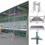 STABILO Professional gurulóállvány, 5000 -es sorozat, mezőméret: 2 m x 1.5 m, munkamagasság: 5.3 m