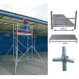 STABILO Professional gurulóállvány, 1000 -es sorozat, mezőméret: 2.5 m x 0.75 m, munkamagasság: 5.3 m