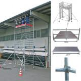STABILO Professional gurulóállvány, 5000 -es sorozat, mezőméret: 2.5 m x 1.5 m, munkamagasság: 5.3 m