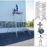 ProTec XXL alumínium gurulóállvány, széles változat, munkamagasság: 5.3 m