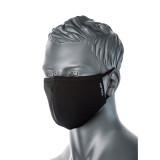 Portwest CV22 - 2 rétegű anti-mikrobiális arcmaszk, fekete