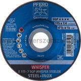 TISZTÍTÓKORONG E 115-7 SGP WHISPER STEELOX