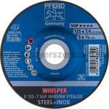 TISZTÍTÓKORONG E 125-7 SGP WHISPER STEELOX