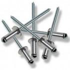 AST Alumínium-acél nyitott félgömbfejű húzószegecs