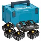 Makita 197626-8 akkumulátor csomag (4 x 5.0 Ah Li-ion akkuval, MAKPAC kofferben)