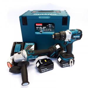 Makita DLX2157TJ1 szénkefe nélküli akkumulátoros gépcsomag (3 x 5.0 Ah Li-ion akkuval, MAKPAC kofferrel) termék fő termékképe