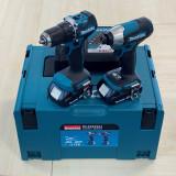 Makita DLX2423AJ szénkefe nélküli akkumulátoros gépcsomag (2 x 2.0 Ah Li-ion akkuval, MAKPAC kofferben)