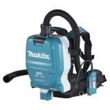 Makita DVC265ZXU szénkefe nélküli akkumulátoros HEPA háti porszívó (akku és töltő nélkül)