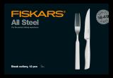 Fiskars All Steel steak evőeszköz készlet, 12 db-os