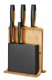 Fiskars Functional Form bambusz késblokk, 5 db késsel