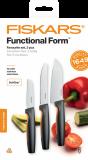 Fiskars Functional Form kedvenc késkészlet, fekete, 3 db-os