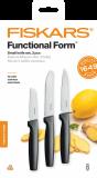 Fiskars Functional Form zöldségkés készlet, fekete, 3 db-os