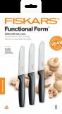 Fiskars Functional Form asztali késkészlet, fekete, 3 db-os