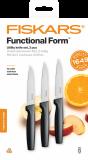 Fiskars Functional Form általános késkészlet, fekete, 3 db-os