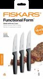 Fiskars Functional Form steak késkészlet, fekete, 3 db-os