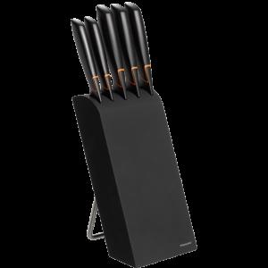 Edge késblokk, 5 db késsel, fekete termék fő termékképe