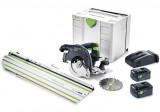 Festool HKC 55 Li 5,2 EBI-Set-SCA-FSK 420 akkus kézi billenőbúrás körfűrész (2 x 5.2 Ah Li-ion akkuval)