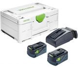 Festool Energia-set SYS3 ENG 18V 2x5,2/TCL6