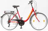 Női kerékpárok, BUDAPEST B 26/18 7SP 19 PIROS