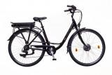 Elektromos kerékpár, E-Trekking női Zagon MXUS 17 fekete