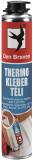 Den Braven THERMO KLEBER ragasztóhab, pisztolyos flakon (téli), sárga, 750 ml