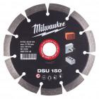 Milwaukee DSU gyémánt vágótárcsa, Ø150 mm