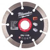 Milwaukee DU gyémánt vágótárcsa, Ø115 mm
