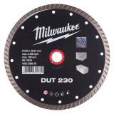 Milwaukee DUT gyémánt vágótárcsa, turbo, Ø230 mm
