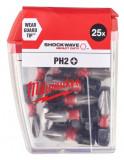 Milwaukee Shockwave Impact Duty™ csavarozó bit, 25 mm, PH 2, 25db/csomag