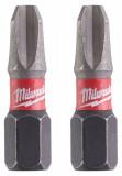 Milwaukee Shockwave Impact Duty™ csavarozó bit, 25 mm, PH 3, 2db/bliszter