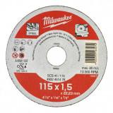 Milwaukee WSCS41 STANDARD fémvágó tárcsa, egyenes, 115x1.5 mm