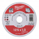 Milwaukee WSCS41 STANDARD fémvágó tárcsa, egyenes, 125x1.0 mm, 200db/csomag