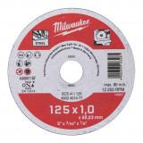 Milwaukee WSCS41 STANDARD fémvágó tárcsa, egyenes, 125x1.0 mm